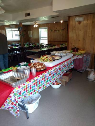 Graduation food set-up.