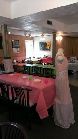Graduation party set-up.